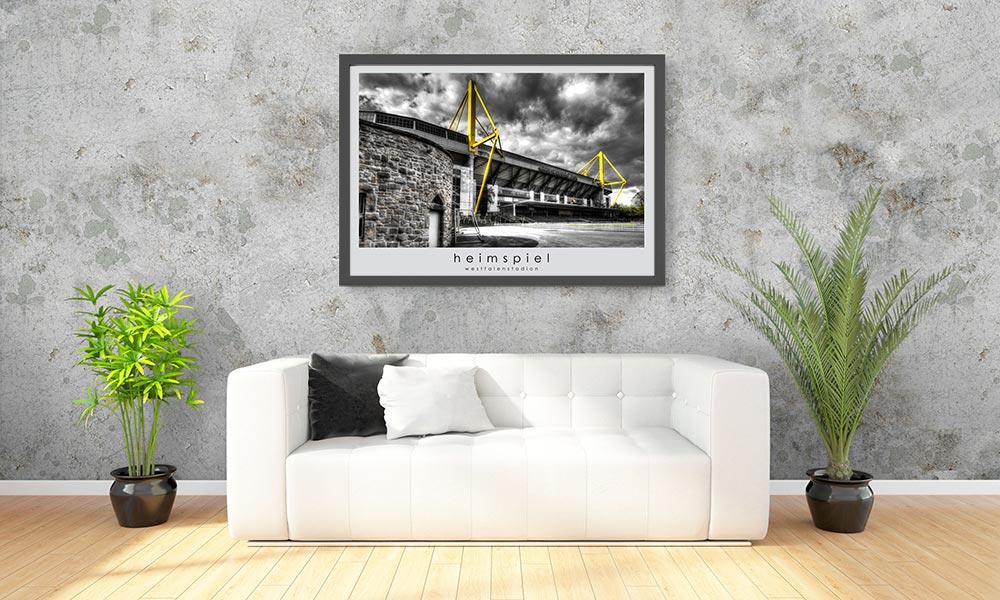 Stadionposternet Poster Von Fußballstadion Nur Für Fußballfans